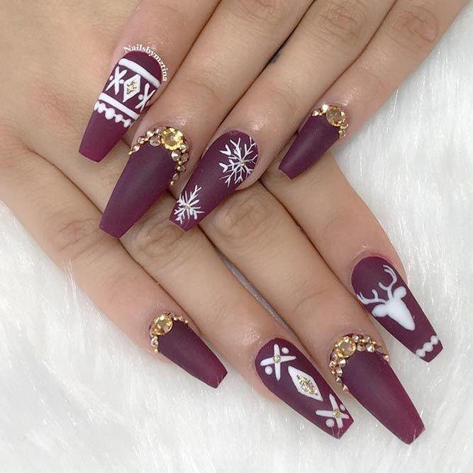Burgundy Nails, Nail art, Artificial nails