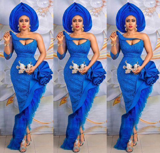 Amazing style electric blue, Aso Oke hat