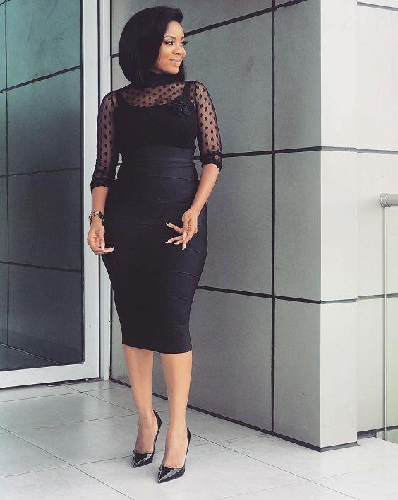 Vestidos casuales de dama 2018, Serwaa Amihere