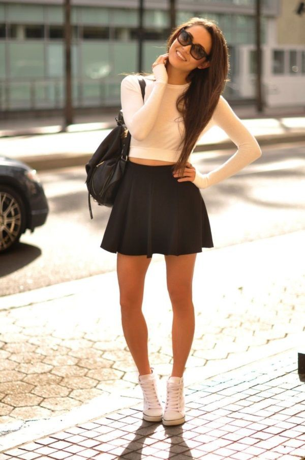 Latest & best converse with dresses, Black Midi Dress