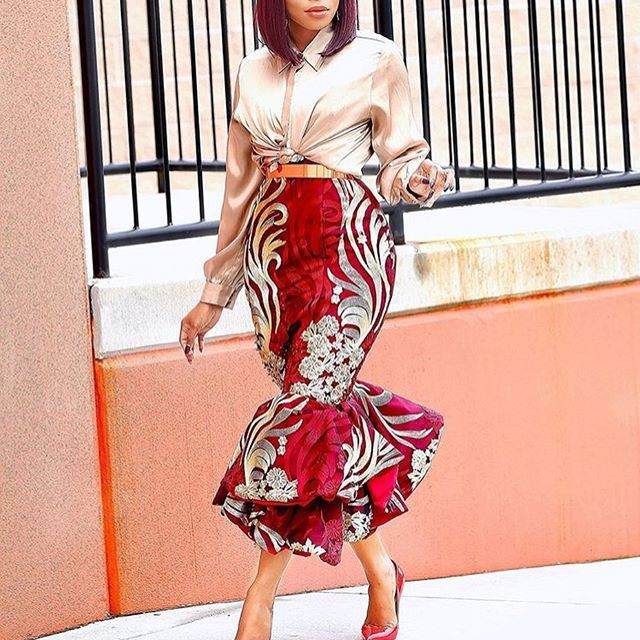 Ankara Gown Styles, High Waist Skirt, Pencil skirt