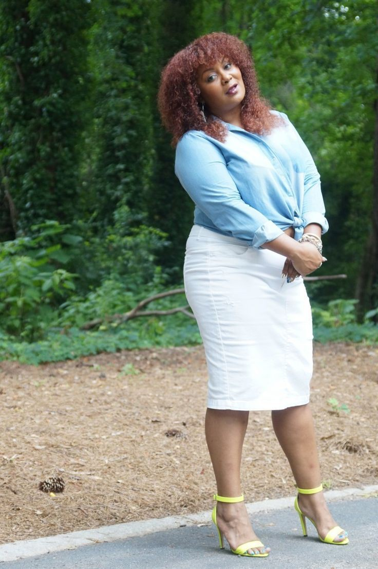 Plus Size Work Outfit, Denim skirt, Clothing sizes