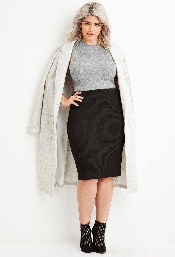 Powerful tips for winter skirt curvy, Ribbed Pencil Skirt