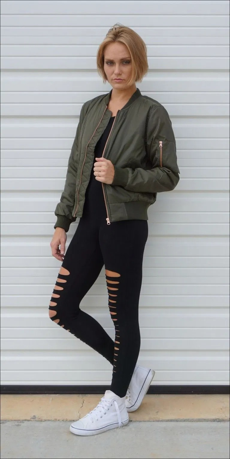 Bomber jacket and leggings, Flight jacket