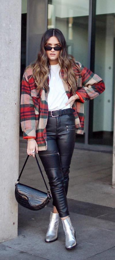 Spring Outfits For Women, Leather jacket
