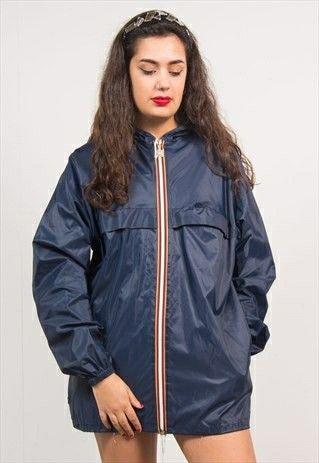 Windbreaker Outfits, Blue Rain Coat, Nylon Pin