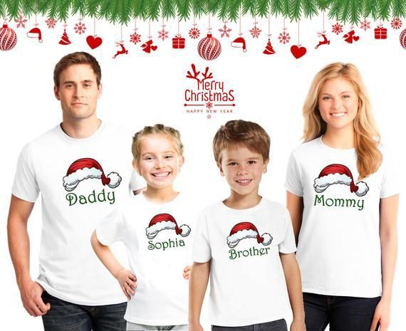 Funny matching family christmas shirts