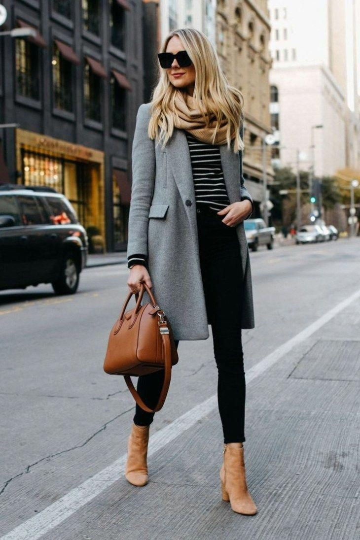 Brown ankle boots outfit, Knee-high boot