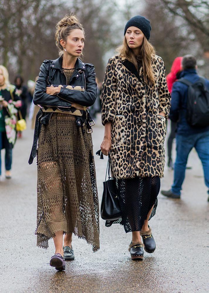 Abito lungo abbinare scarpe, Street fashion