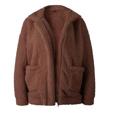 Hooded Coats For Ladies, Fake fur, Polar fleece