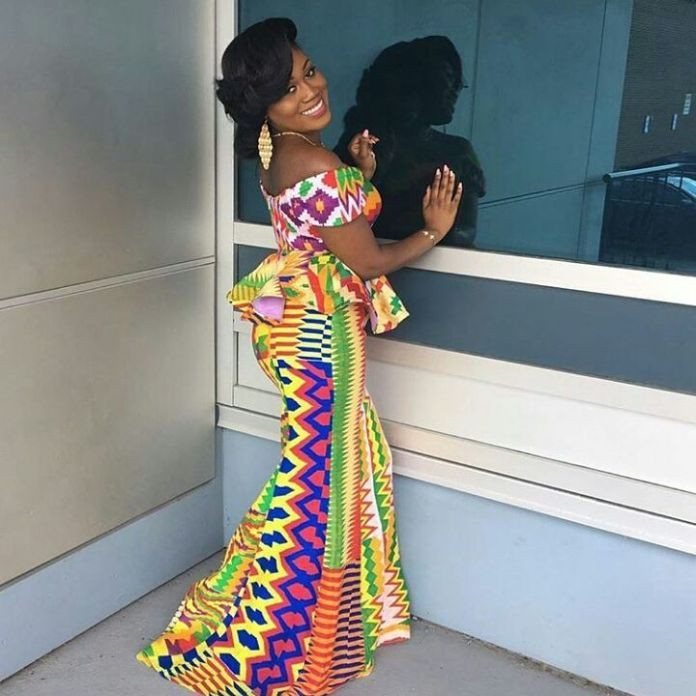 Collections of kente kaba styles, African wax prints