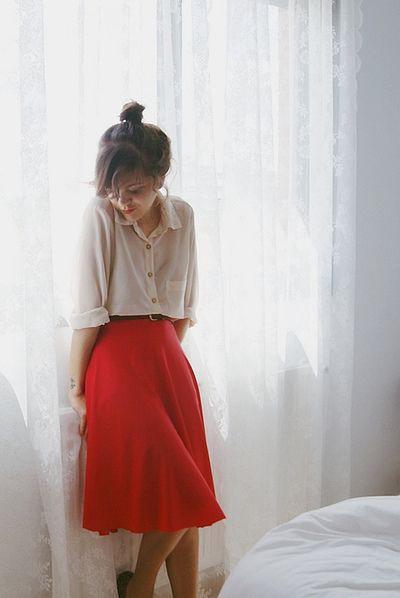Loose shirt and skirt, Dress shirt
