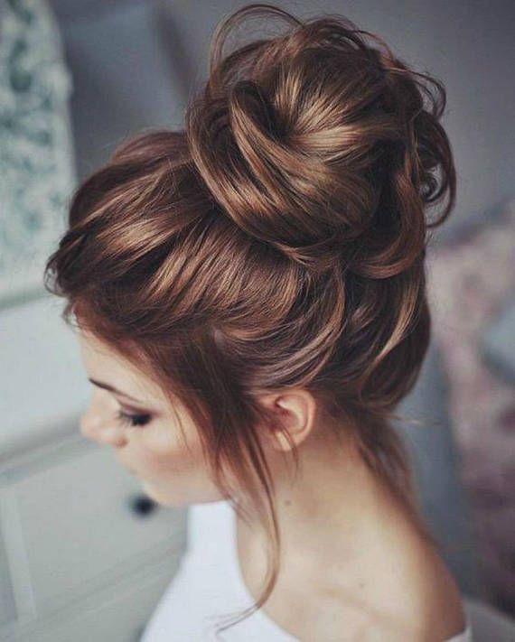 Most searched messy bun hairstyles, Long hair