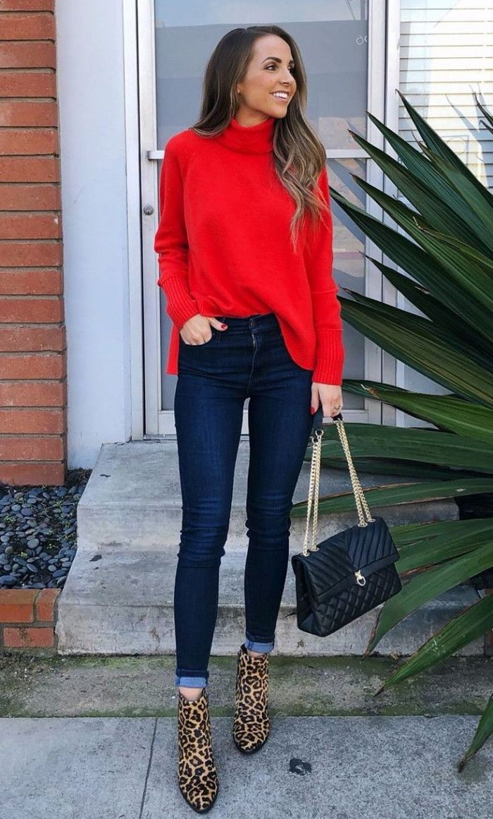 Voguish ideas for red turtleneck outfit, Polo neck