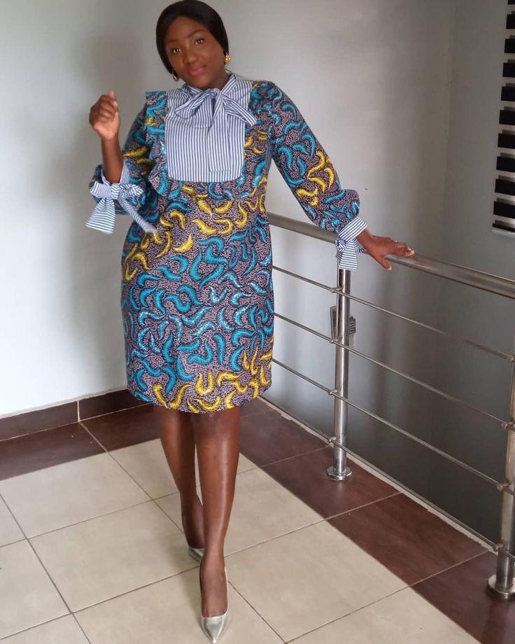 Short African Dresses, African wax prints, Summer dress black