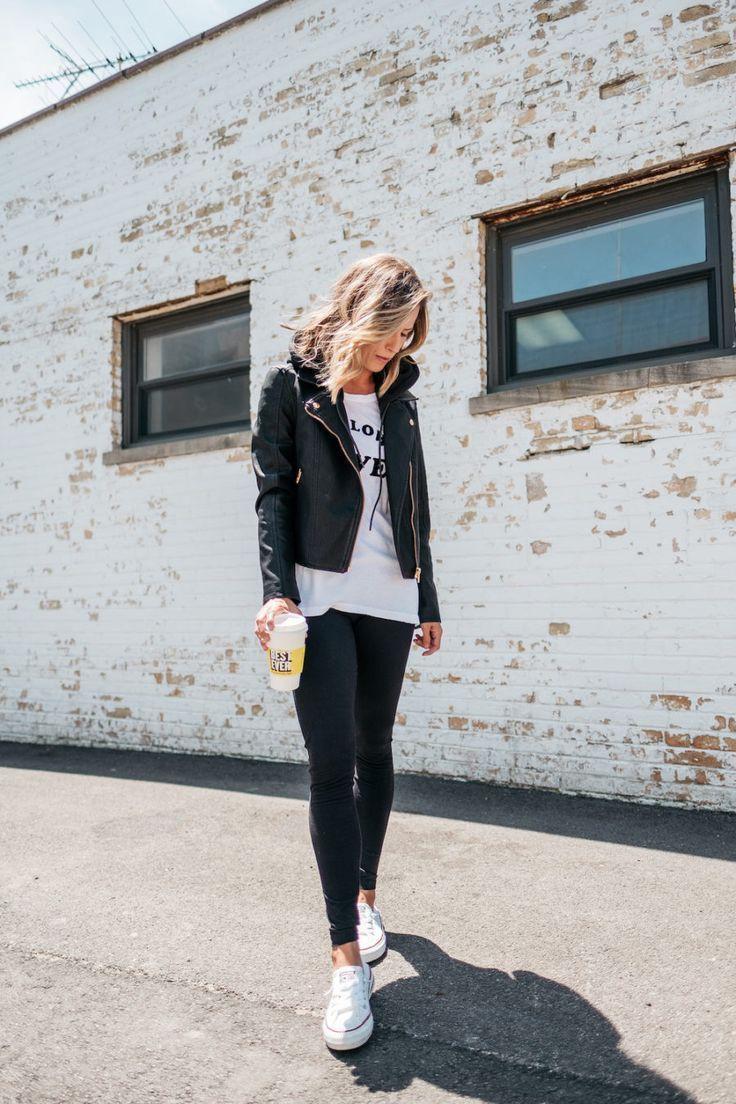 Combinar una calza negra, Leather jacket
