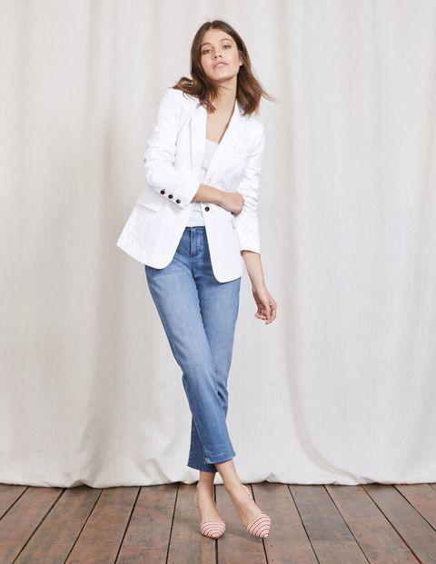 Short Jeans white blazer Combination
