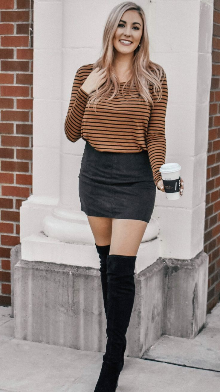 Winter outfits with knee high boots