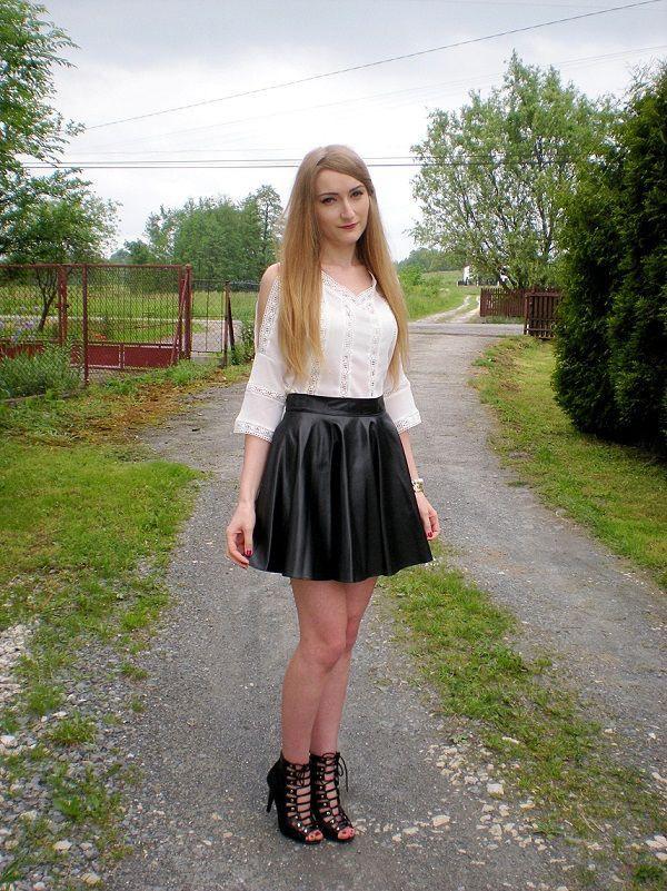 Must try ideas for mini skirt blogspot, Leather Skater Skirt