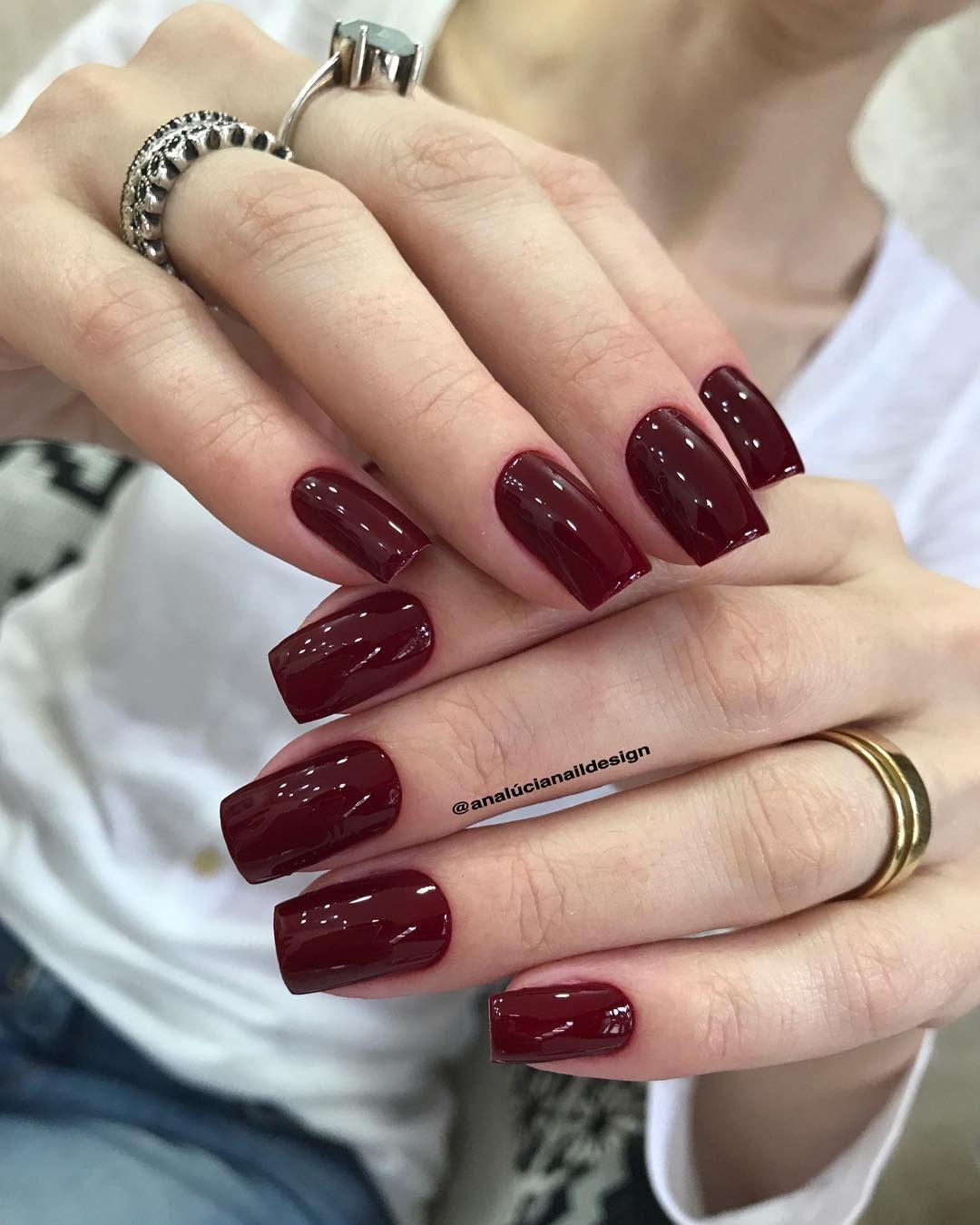 Burgundy Nails, Nail polish, Nail art