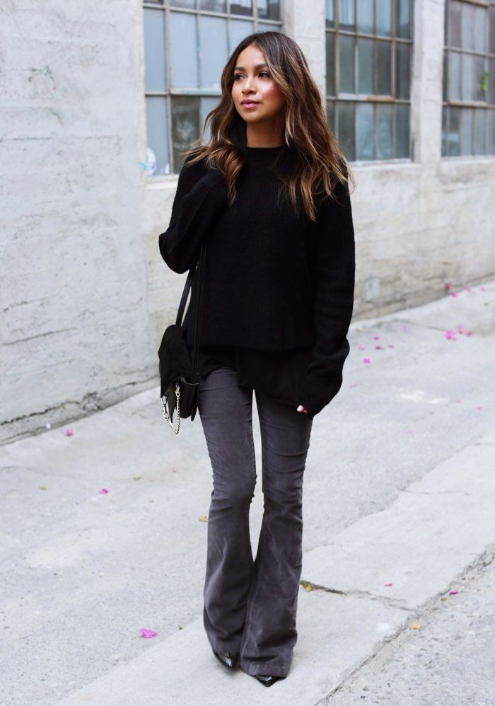 Outfits black bootcut jeans, Slim-fit pants