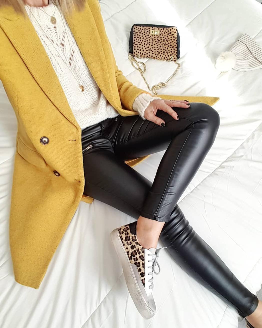 Casual wear Leather Pant Outfits For Women, Informal wear