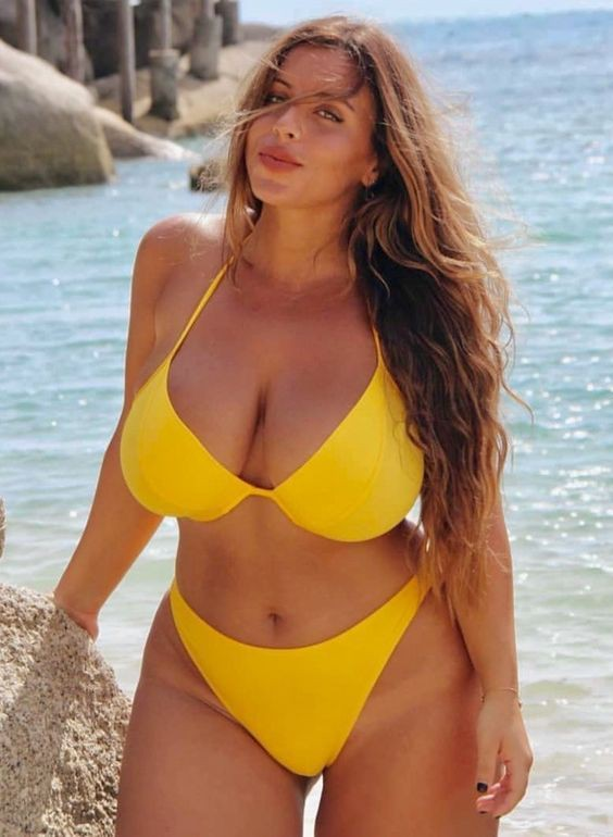 Plus size bikini babes, One-piece swimsuit