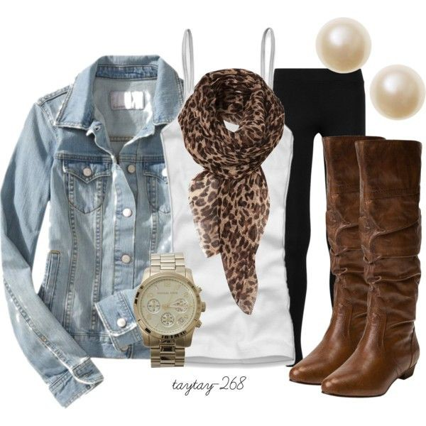 Outfits with scarves polyvore, Animal print