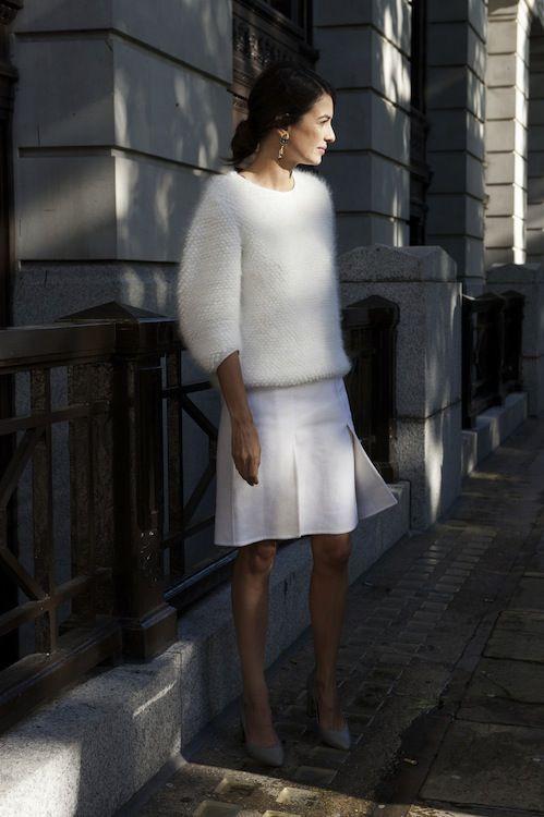 Nice looking white angora sweater, Angora wool