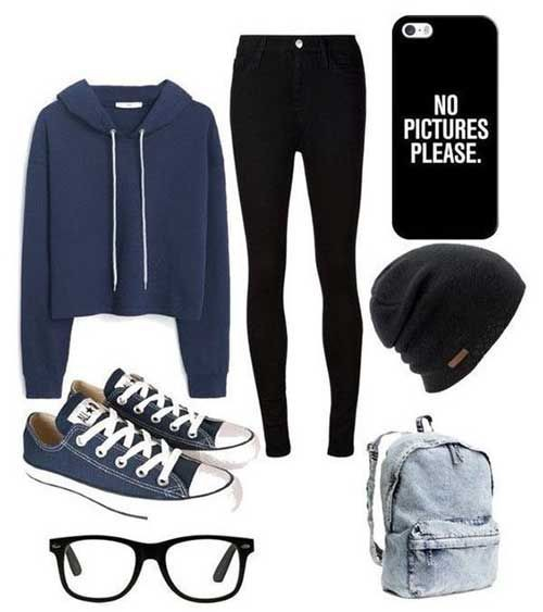 Winter cute outfits for school