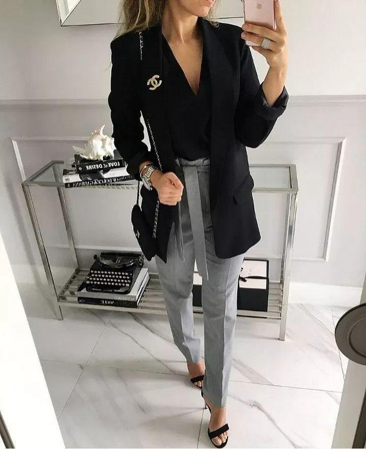 Black blazer instagram outfit, Informal wear