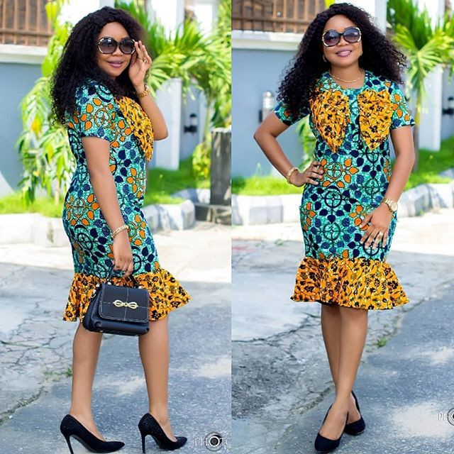 Casual style dressing fashion model, African wax prints
