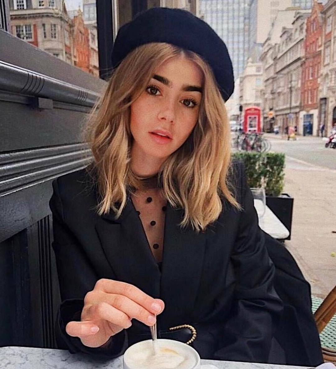 Models choice lily collins blonde, We Heart It