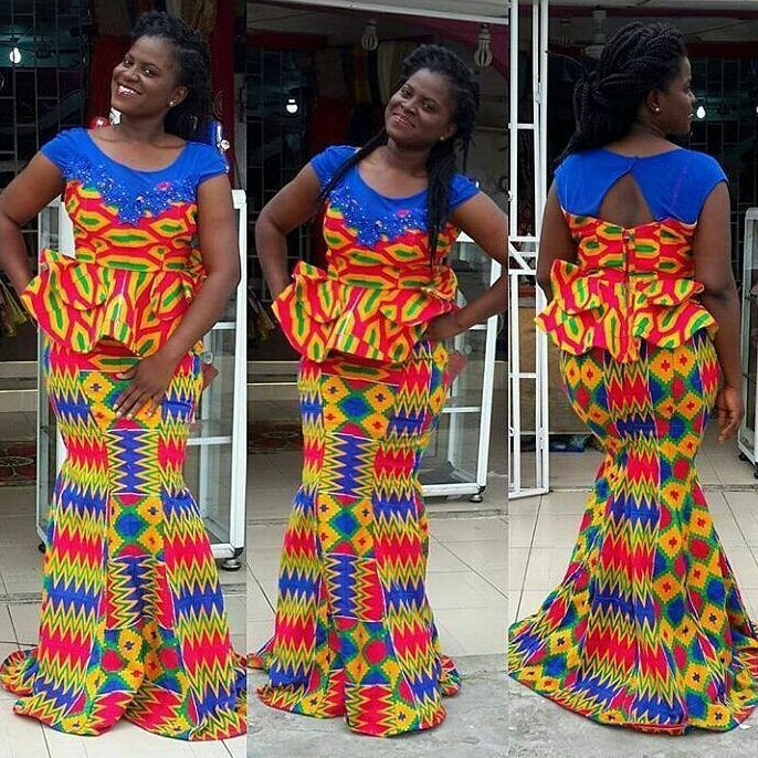 Slit and kaba styles kente