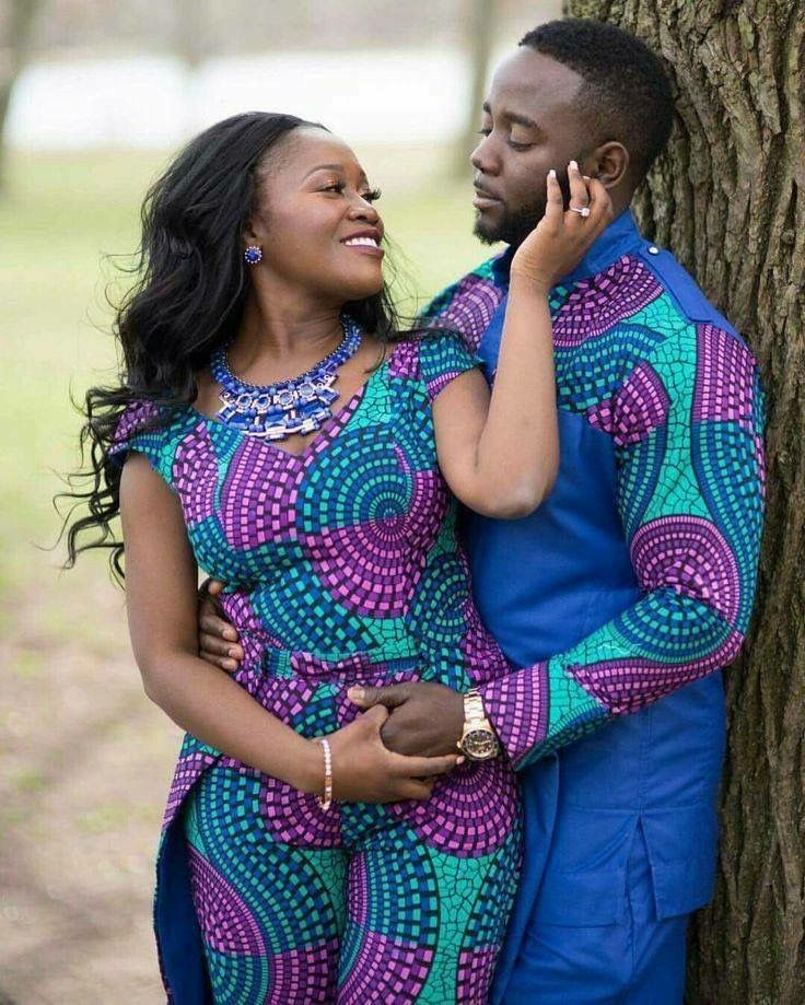Matching african outfits for couples | African Couple Fashion ...