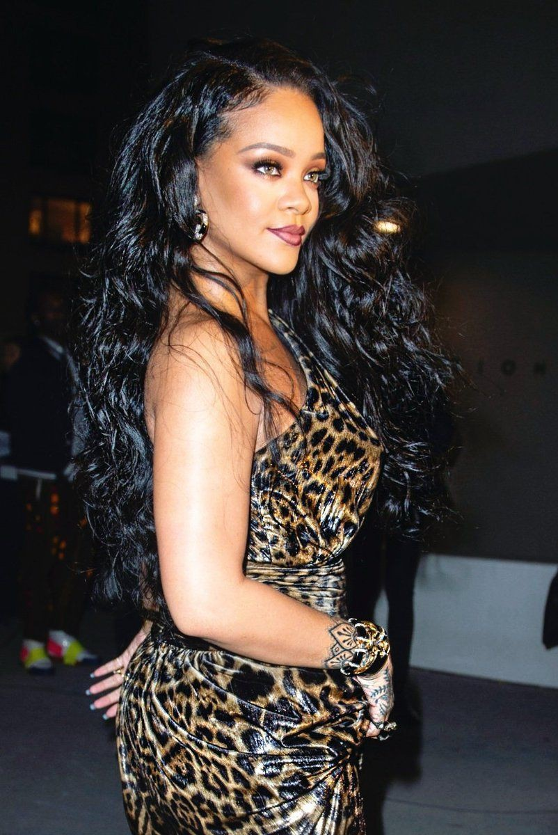 Rihanna leopard print dress, New York