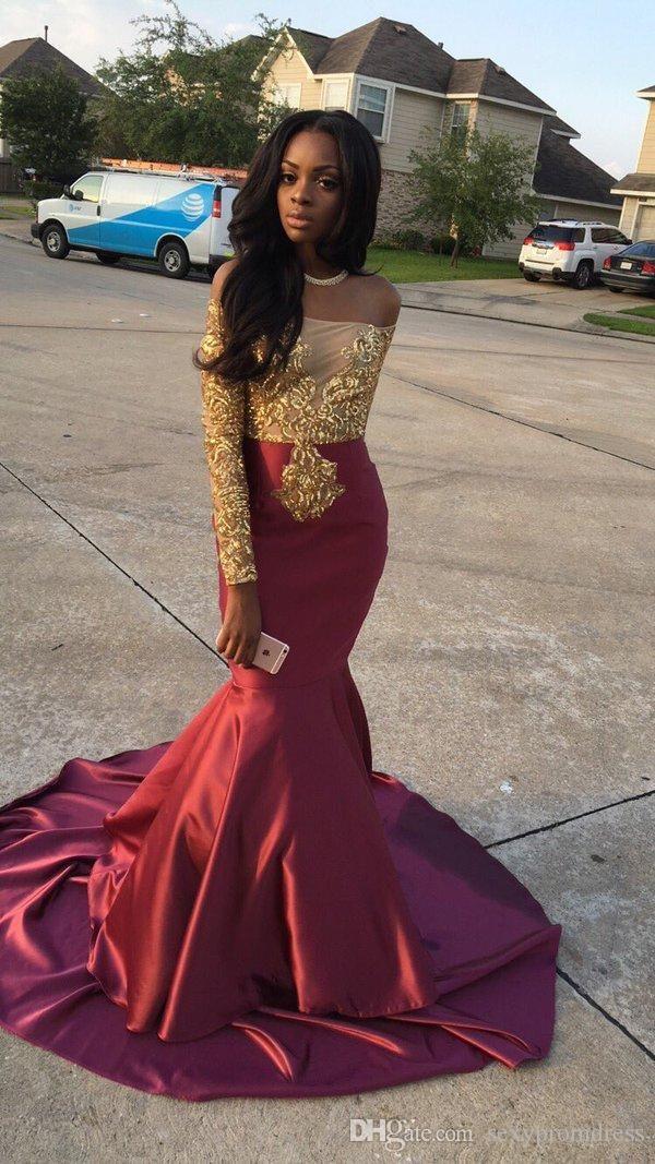 Prom dresses black girls, Evening gown
