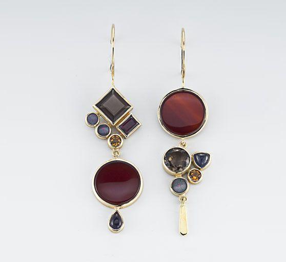 Beautiful Asymmetrical Earrings, Jewelry design, Costume jewelry