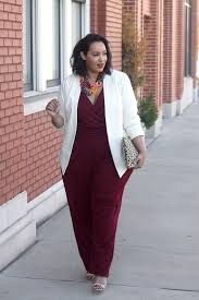 Jumpsuit with blazer plus size