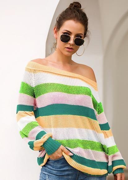 Crew neck, Polo neck Block Sweaters