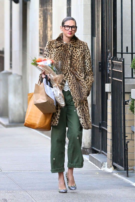 Jenna lyons leopard coat, Animal print