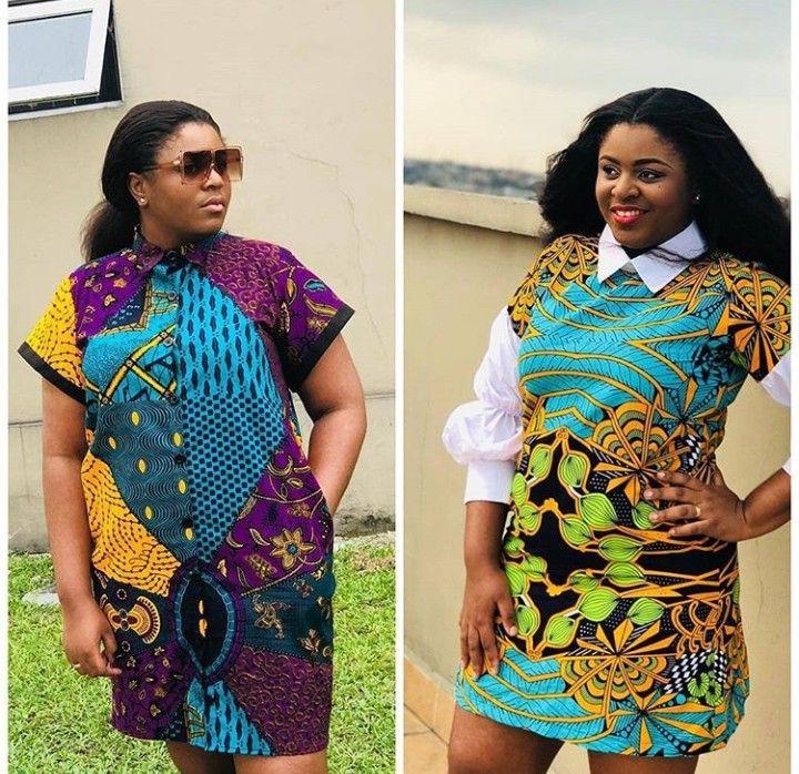 Short African Dresses, African wax prints, Aso ebi