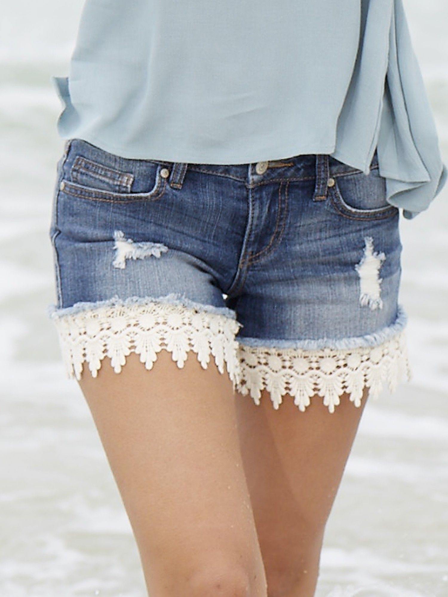 Outfits With Lace Shorts