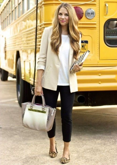 Work outfits with flats, Ballet flat