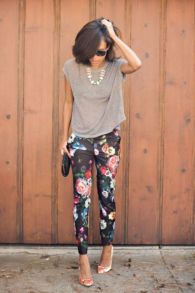 Pictures to see womens floral pants, Floral Pants