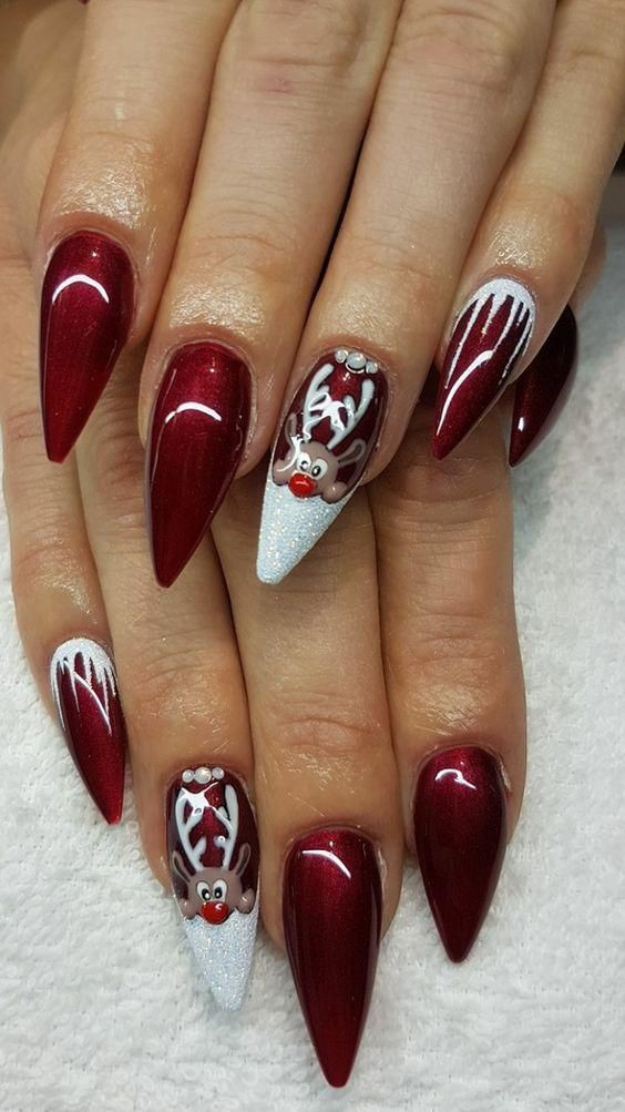 Simple outfit ideas for christmas nail designs 2019, Nail art