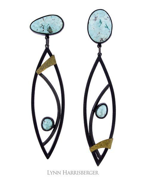 Sterling silver Asymmetrical Earrings Ideas, Art jewelry,