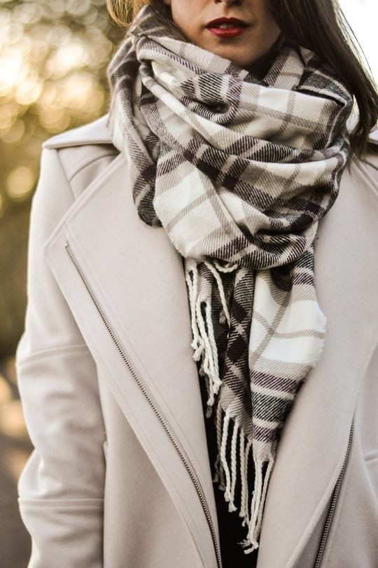 Stylish and classic pretty winter scarf, Winter clothing