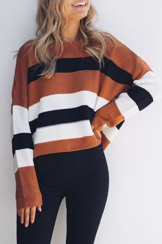 Outfits With Color Block Sweaters & Coats, Boat neck, Winter clothing