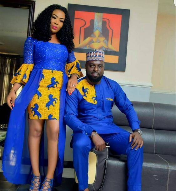 Models looks couples african outfits, African wax prints